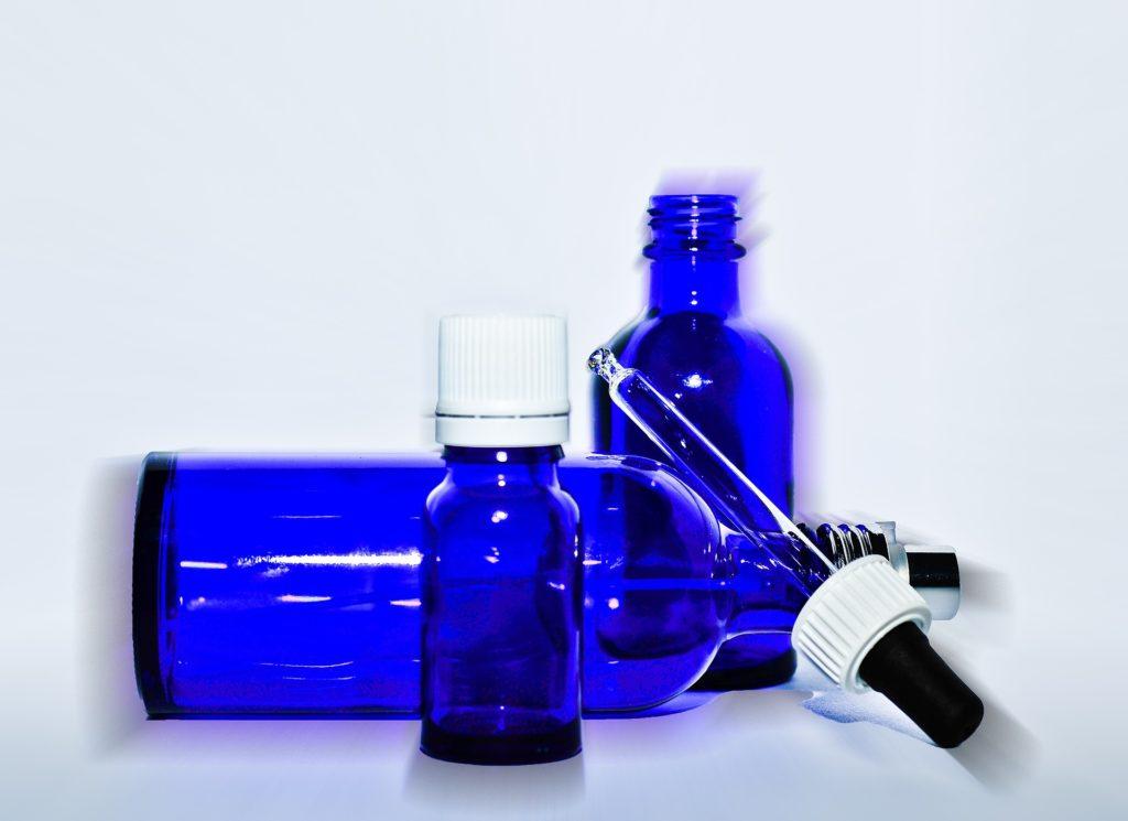 hydrolat flacon bleu