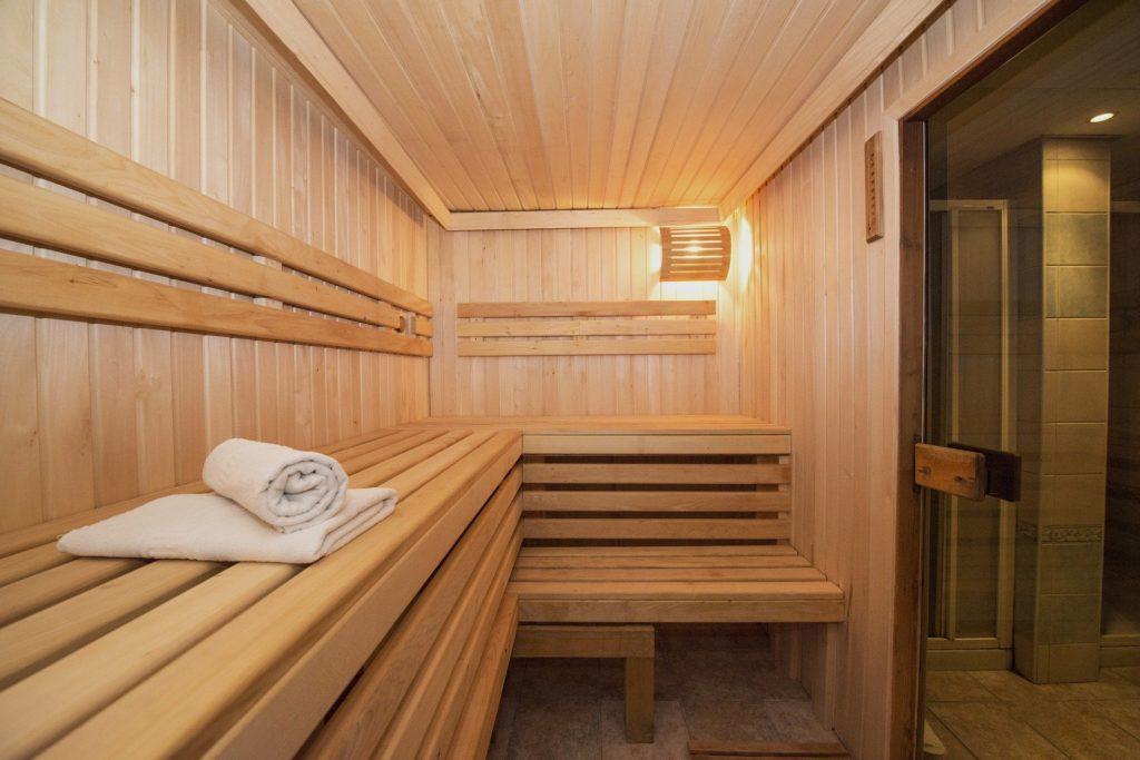 la cabine en bois sauna